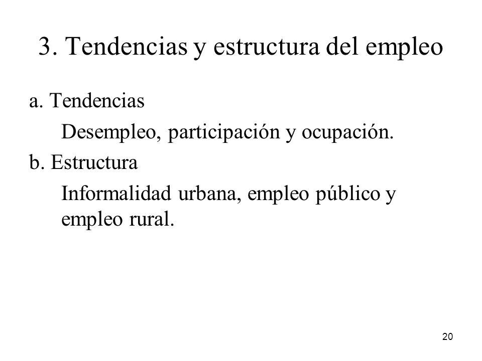 3. Tendencias y estructura del empleo