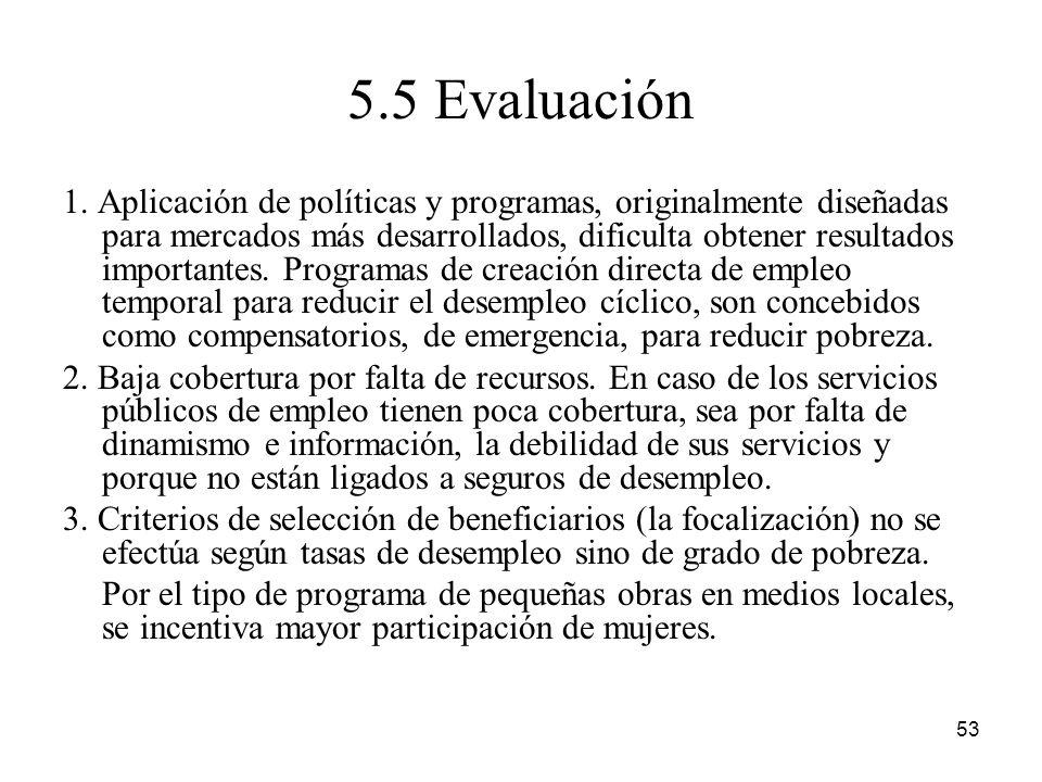 5.5 Evaluación