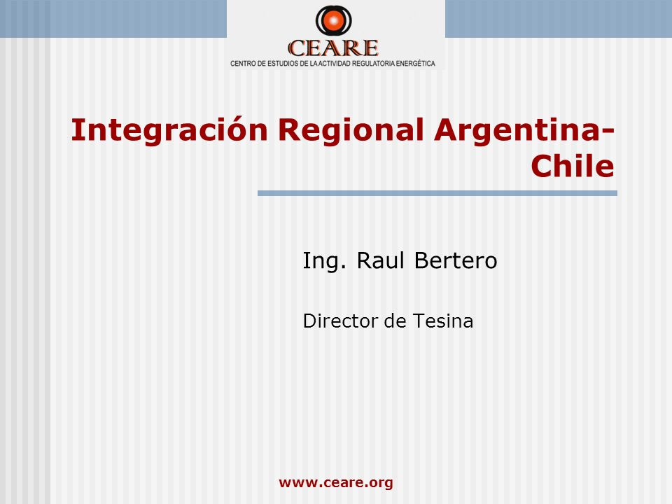 Integración Regional Argentina-Chile