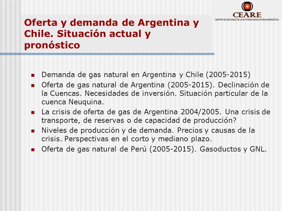 Oferta y demanda de Argentina y Chile. Situación actual y pronóstico