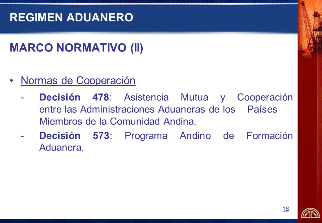 REGIMEN ADUANERO MARCO NORMATIVO (II)