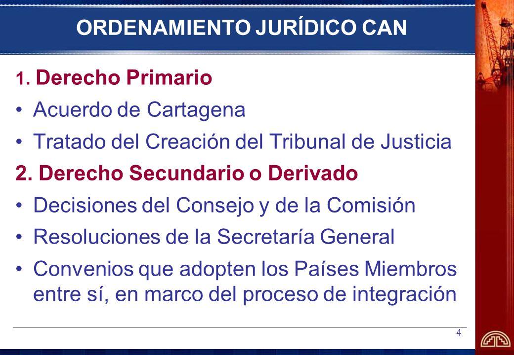 ORDENAMIENTO JURÍDICO CAN