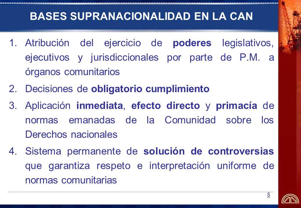 BASES SUPRANACIONALIDAD EN LA CAN