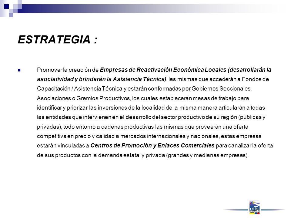 ESTRATEGIA :
