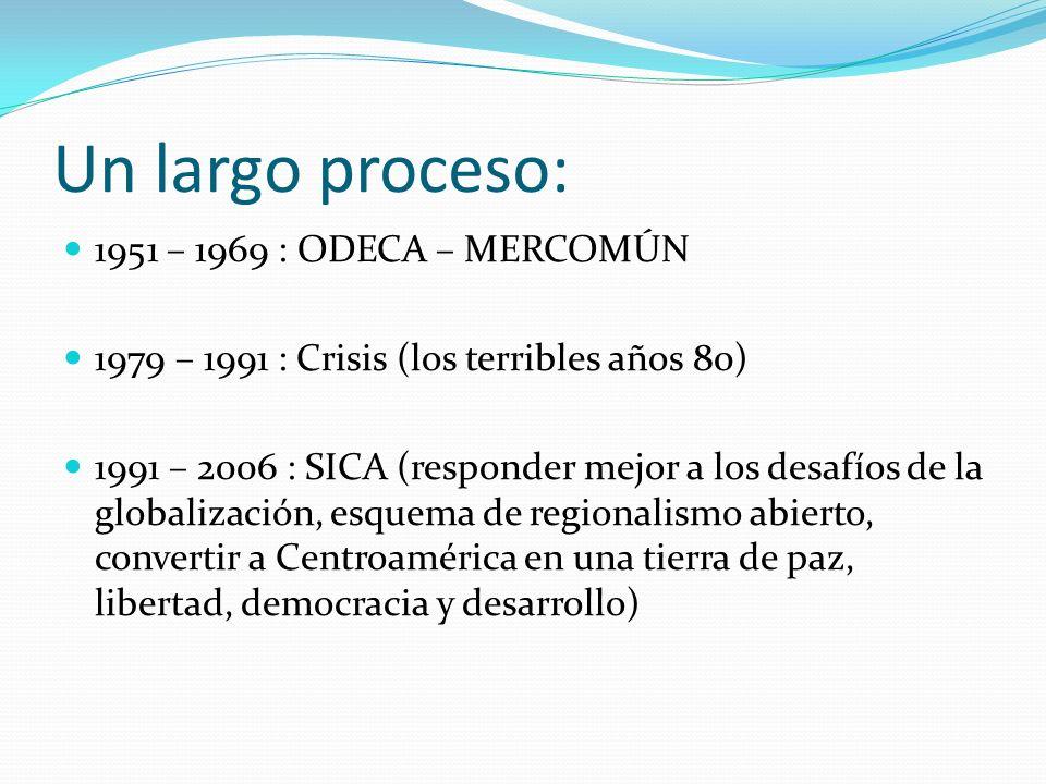Un largo proceso: 1951 – 1969 : ODECA – MERCOMÚN