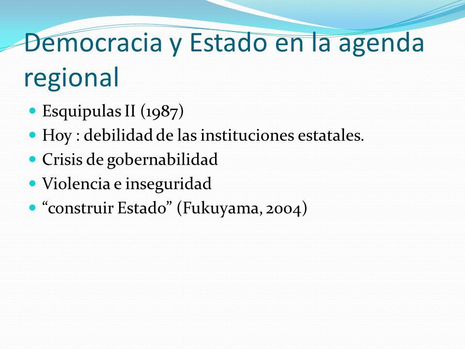 Democracia y Estado en la agenda regional