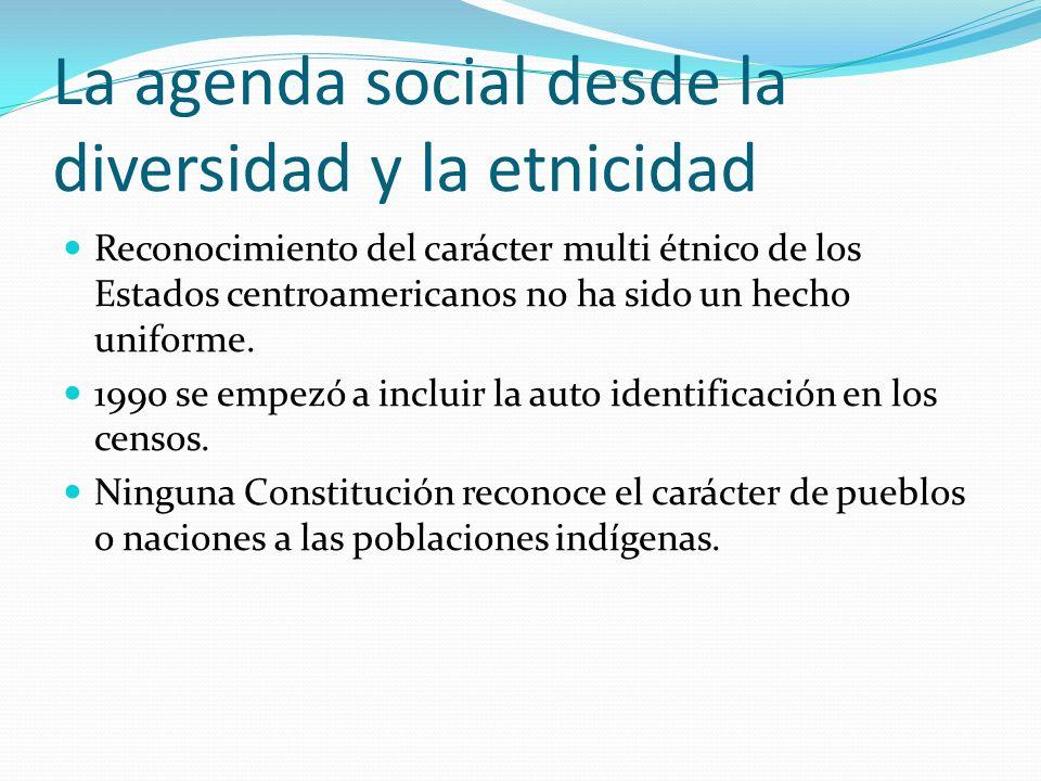 La agenda social desde la diversidad y la etnicidad