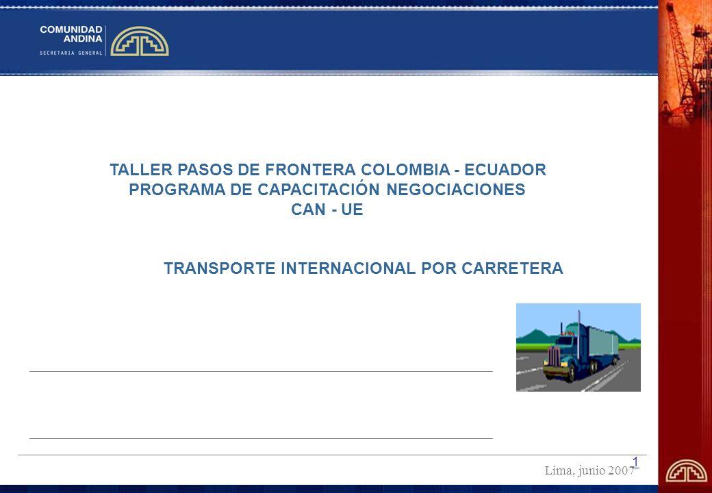 TALLER PASOS DE FRONTERA COLOMBIA - ECUADOR