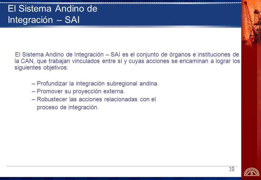 El Sistema Andino de Integración – SAI