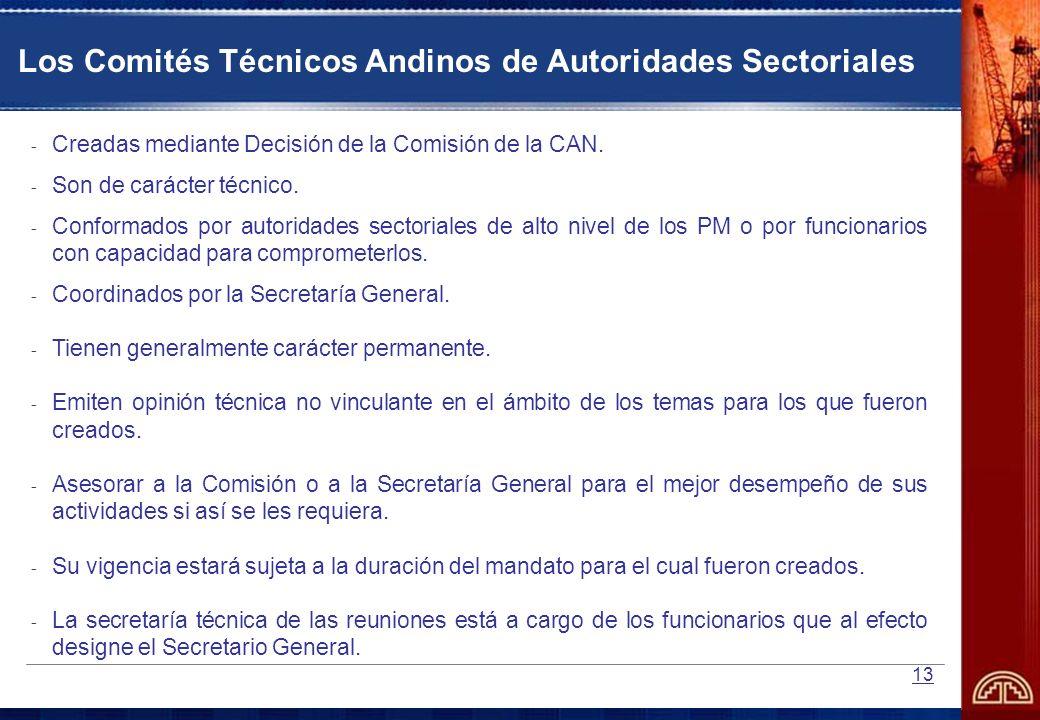Los Comités Técnicos Andinos de Autoridades Sectoriales
