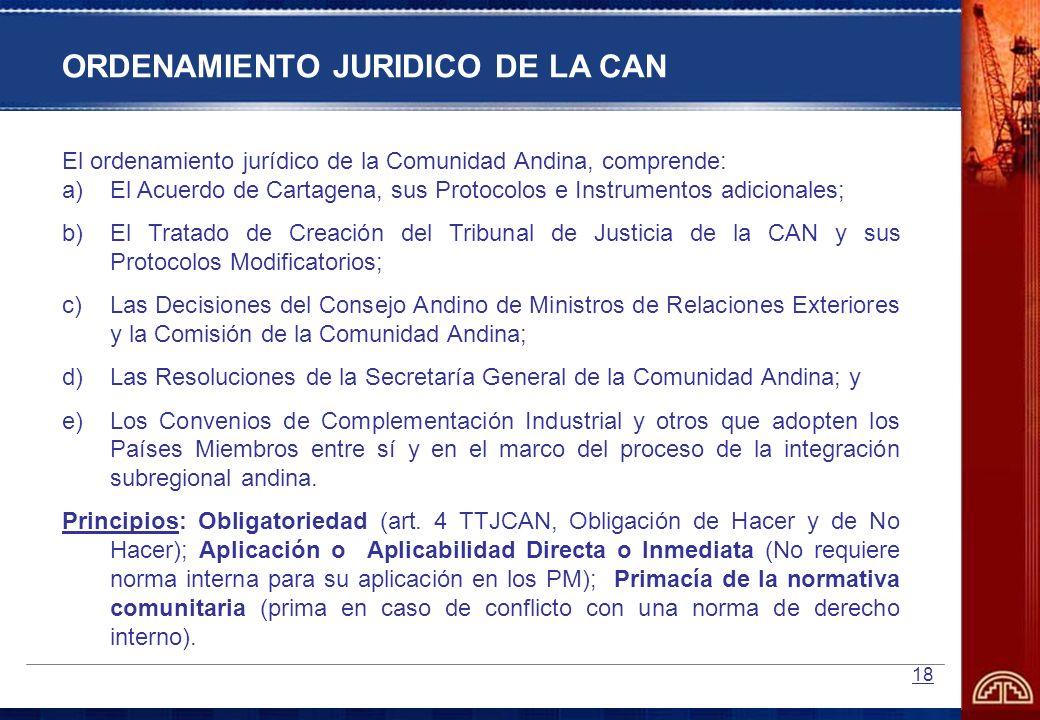 ORDENAMIENTO JURIDICO DE LA CAN
