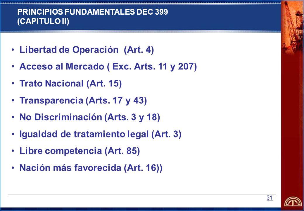 Libertad de Operación (Art. 4)