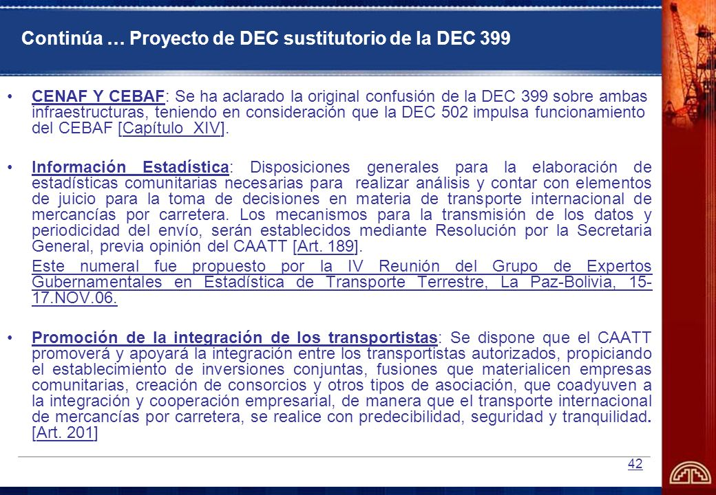 Continúa … Proyecto de DEC sustitutorio de la DEC 399