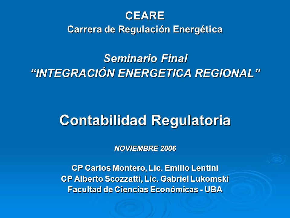 Contabilidad Regulatoria
