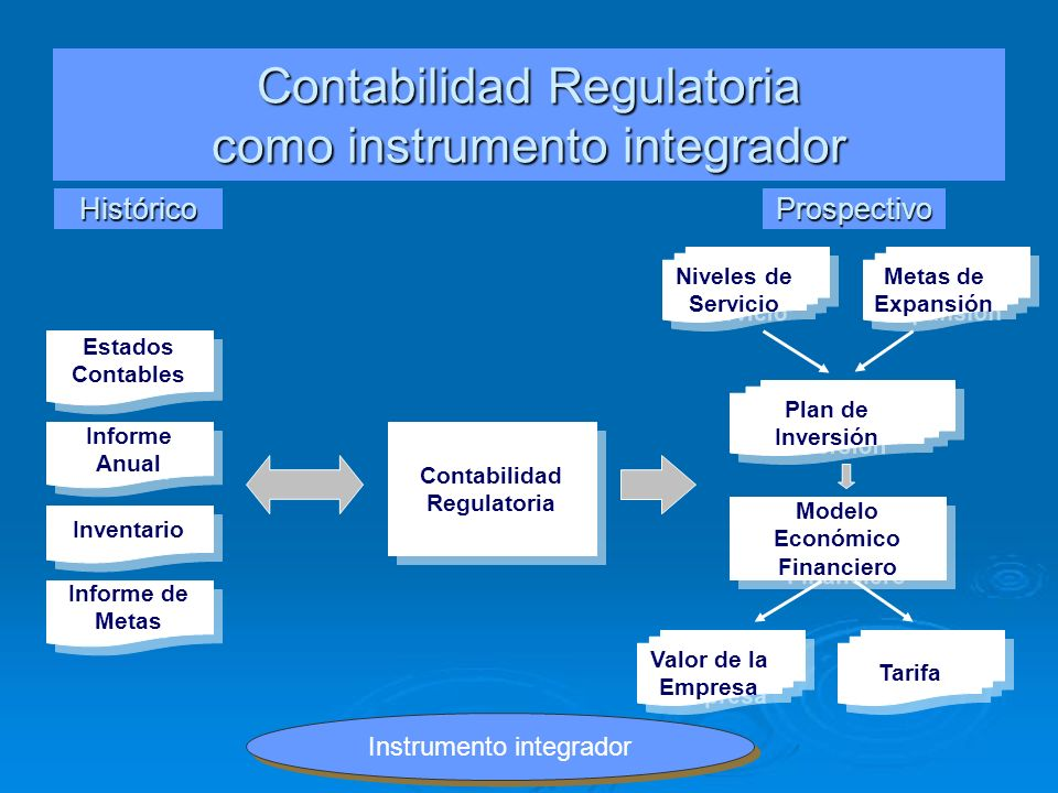 Contabilidad Regulatoria como instrumento integrador