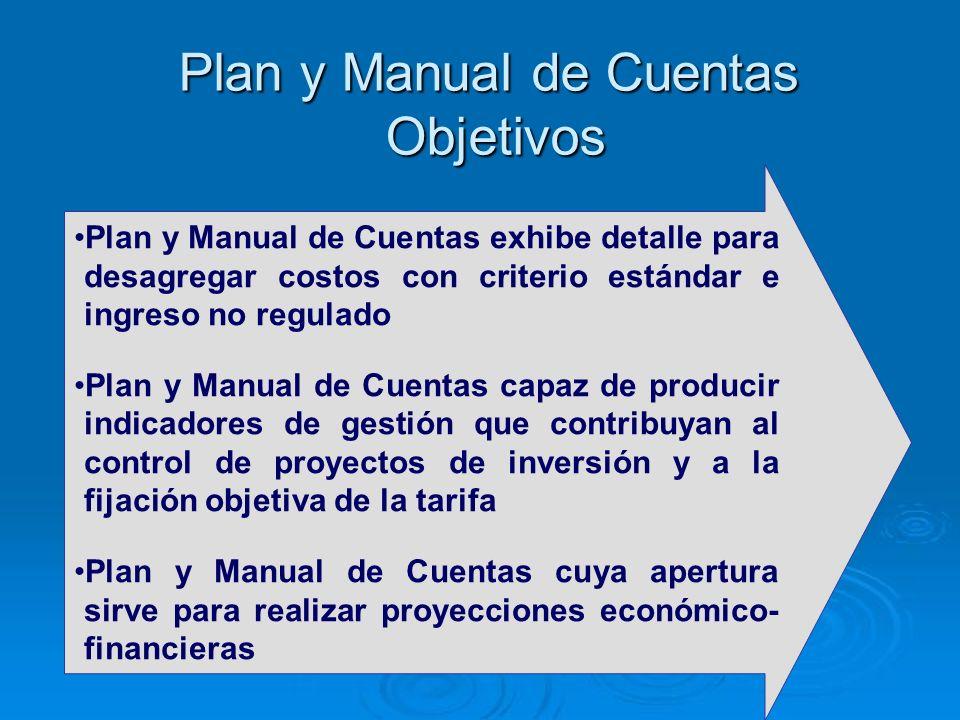 Plan y Manual de Cuentas Objetivos