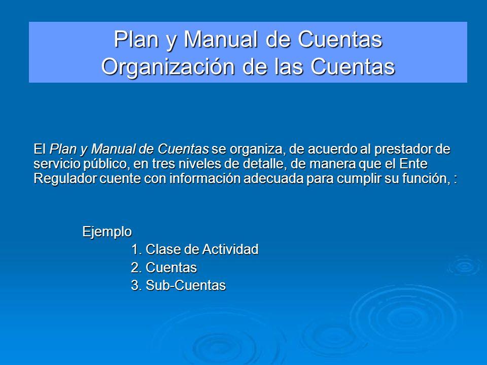 Plan y Manual de Cuentas Organización de las Cuentas