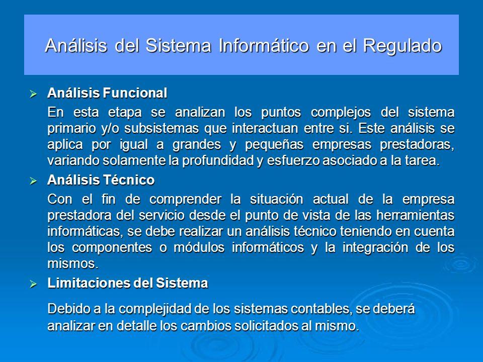 Análisis del Sistema Informático en el Regulado