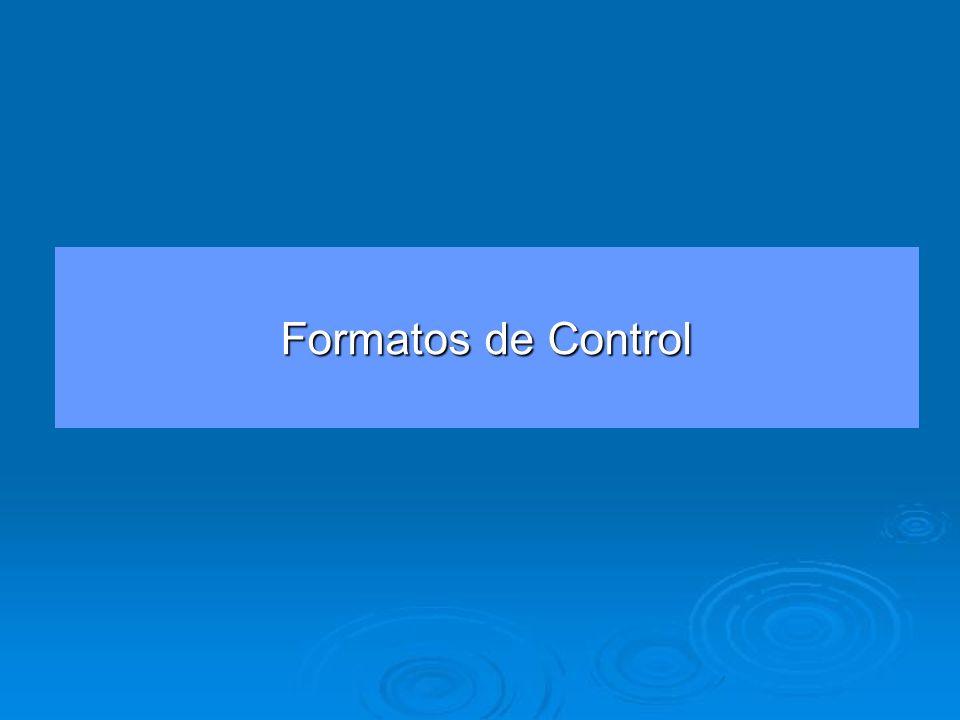 Formatos de Control