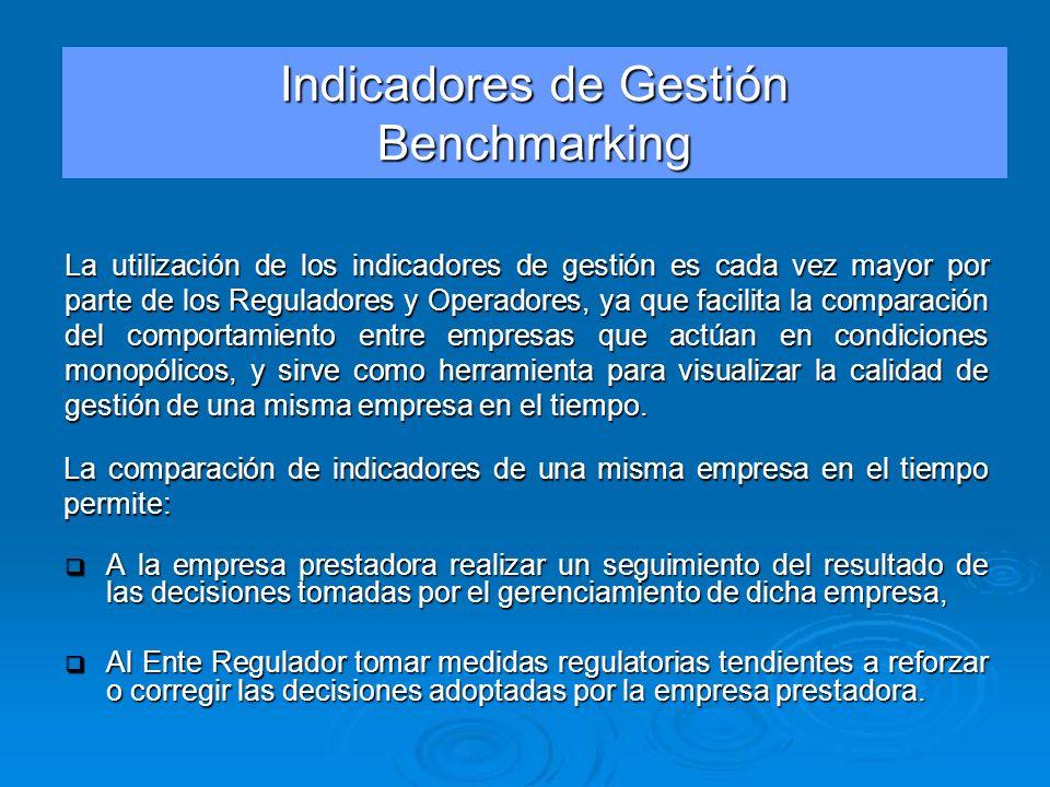 Indicadores de Gestión Benchmarking