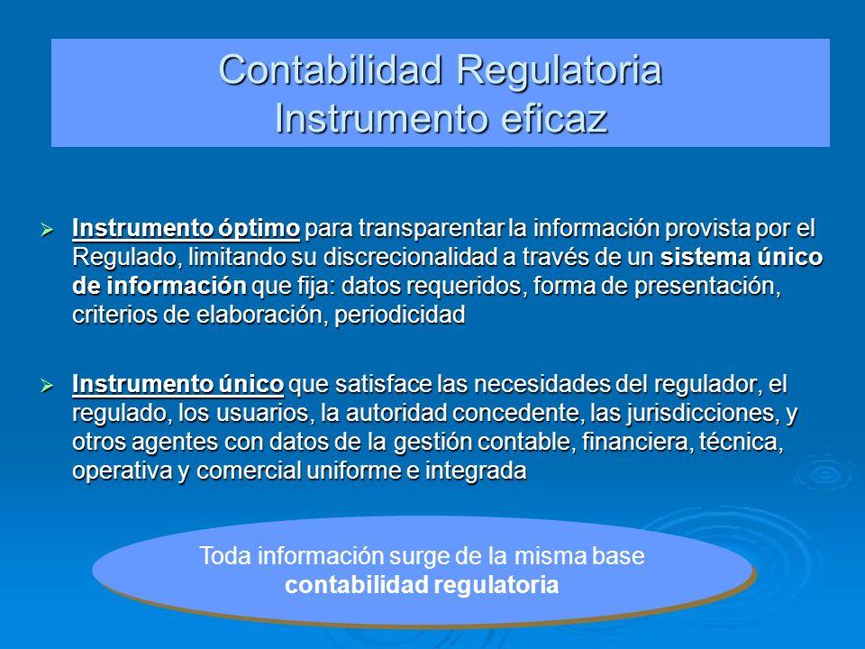 Contabilidad Regulatoria Instrumento eficaz