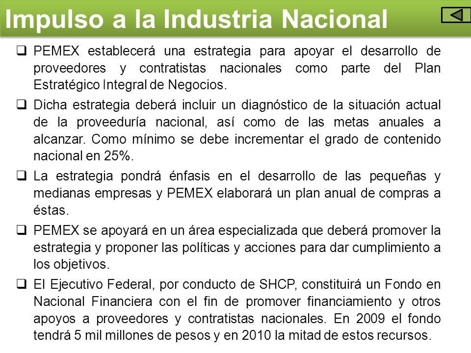 Impulso a la Industria Nacional