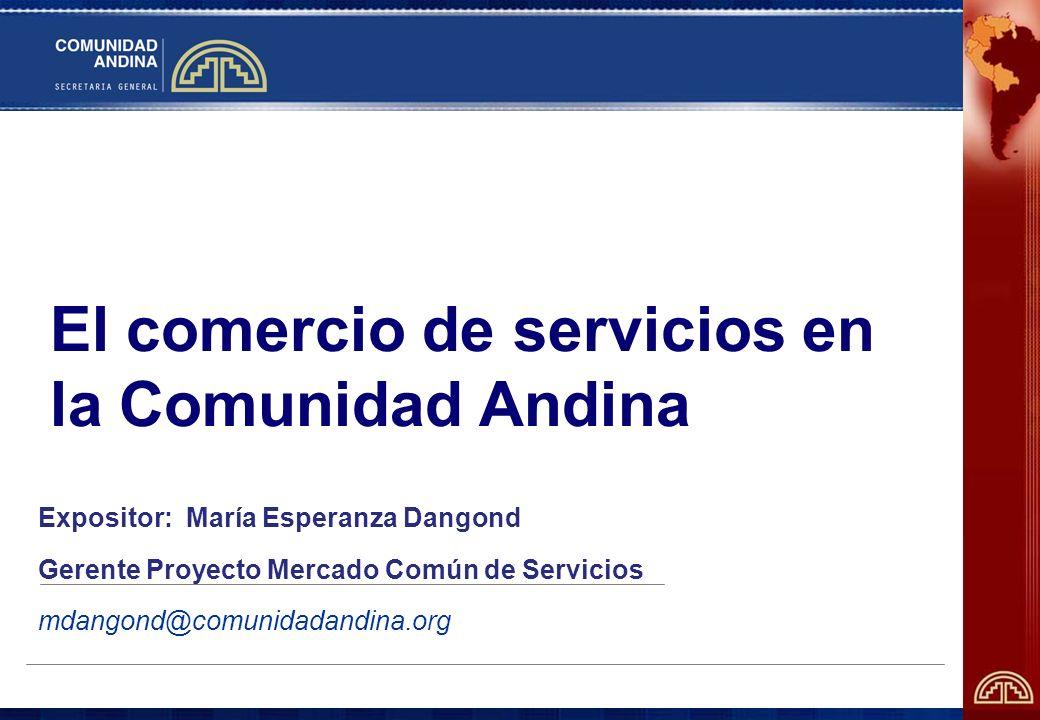 El comercio de servicios en la Comunidad Andina