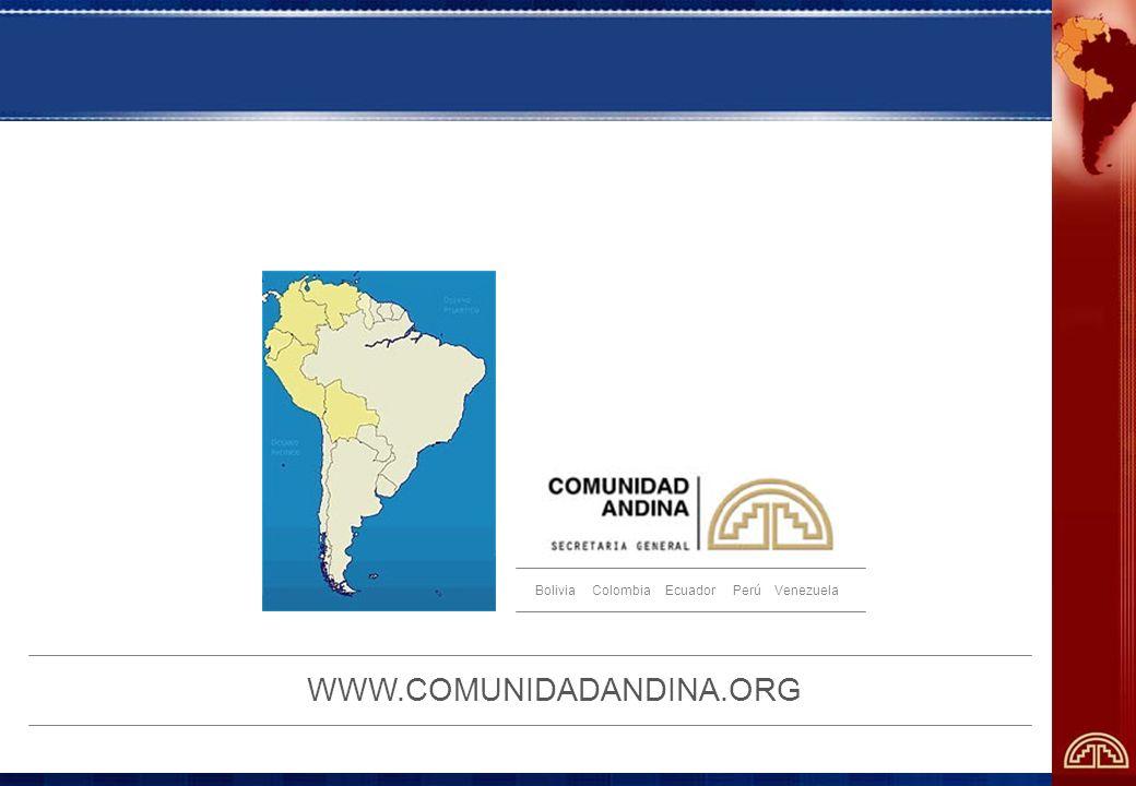 Bolivia Colombia Ecuador Perú Venezuela