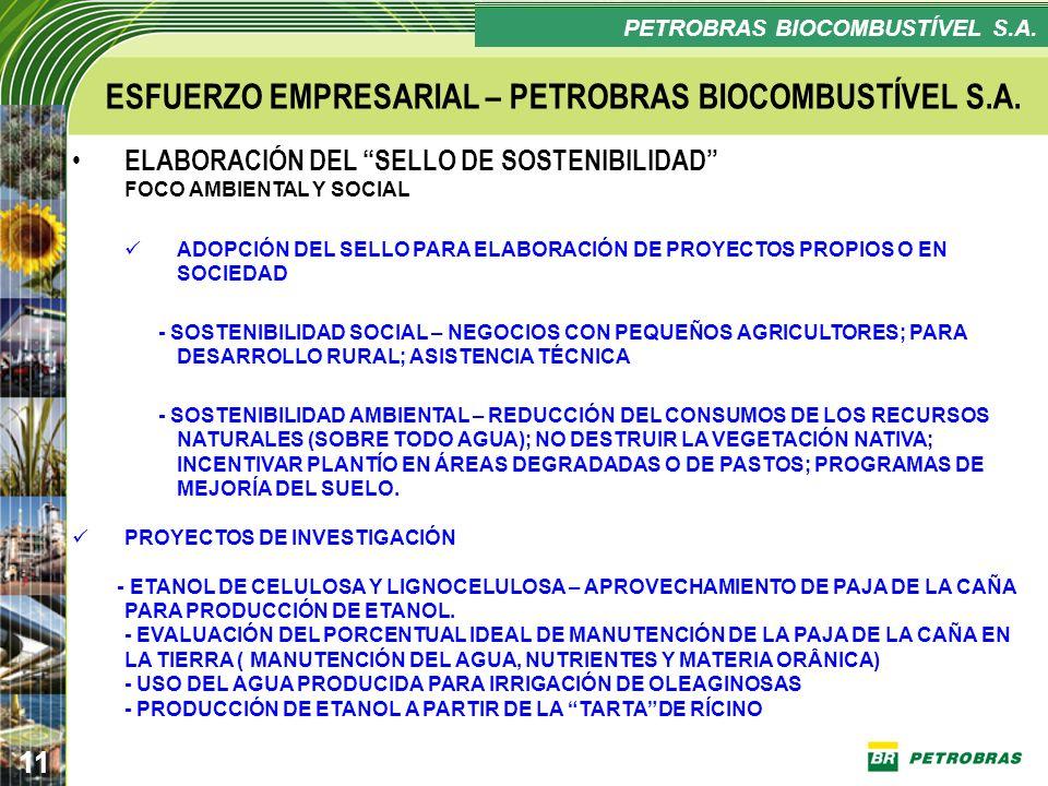 ESFUERZO EMPRESARIAL – PETROBRAS BIOCOMBUSTÍVEL S.A.