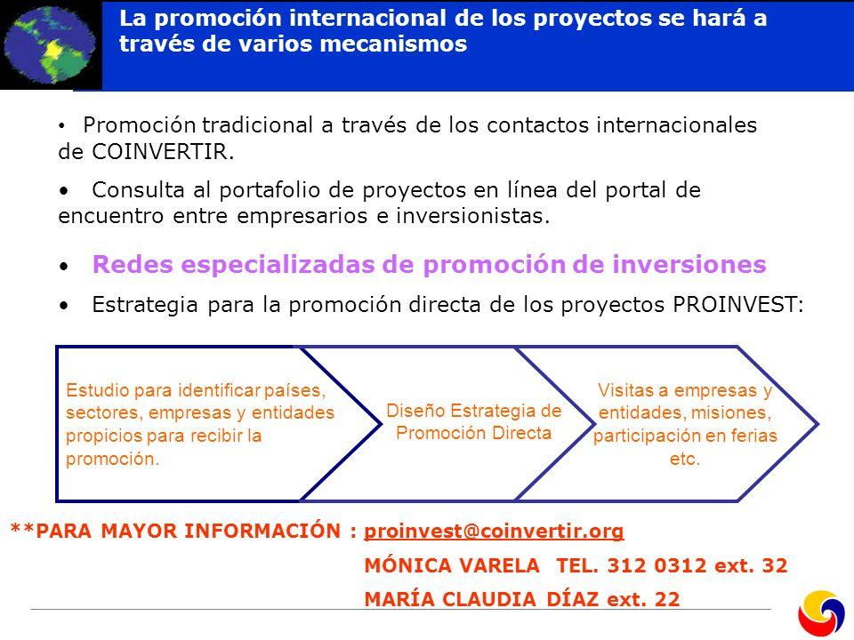 Redes especializadas de promoción de inversiones