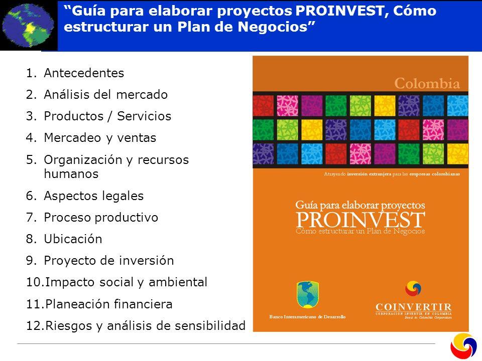 Guía para elaborar proyectos PROINVEST, Cómo estructurar un Plan de Negocios