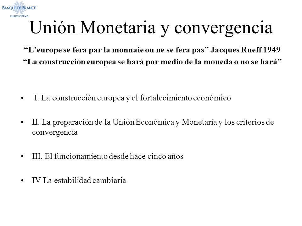 Unión Monetaria y convergencia