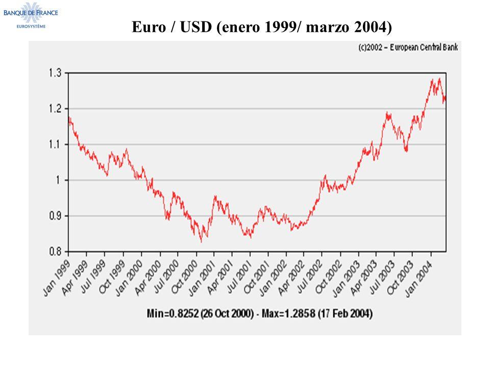 Euro / USD (enero 1999/ marzo 2004)