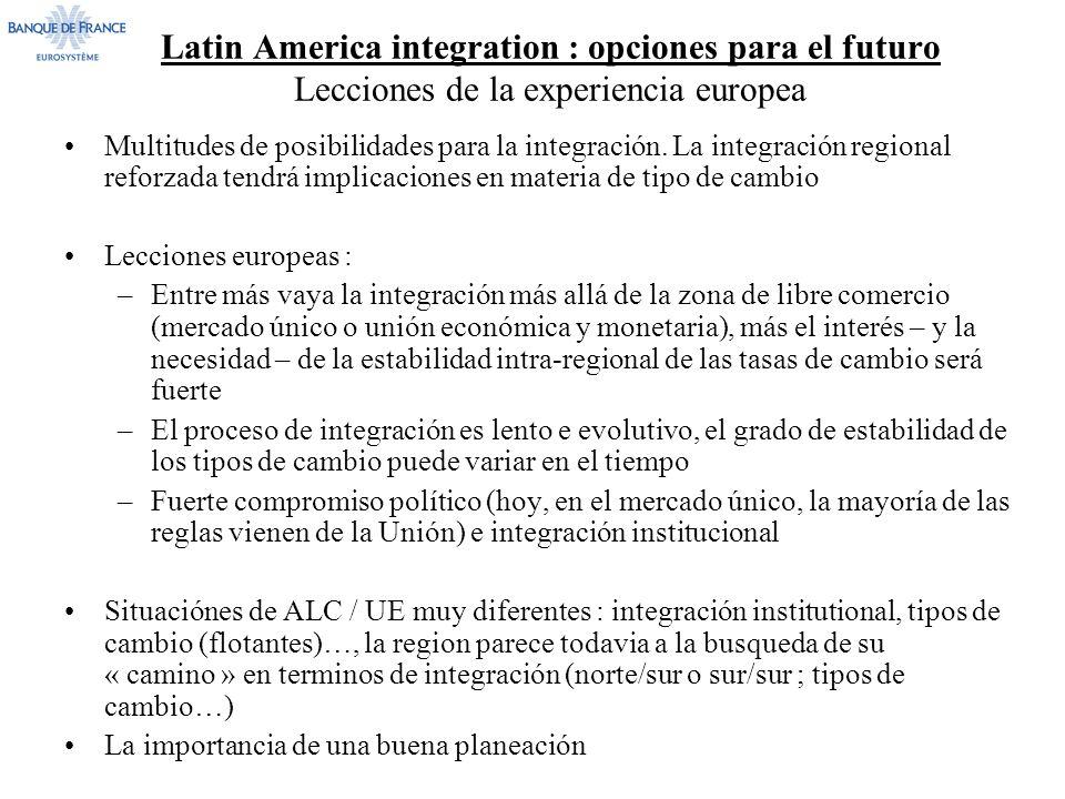 Latin America integration : opciones para el futuro Lecciones de la experiencia europea