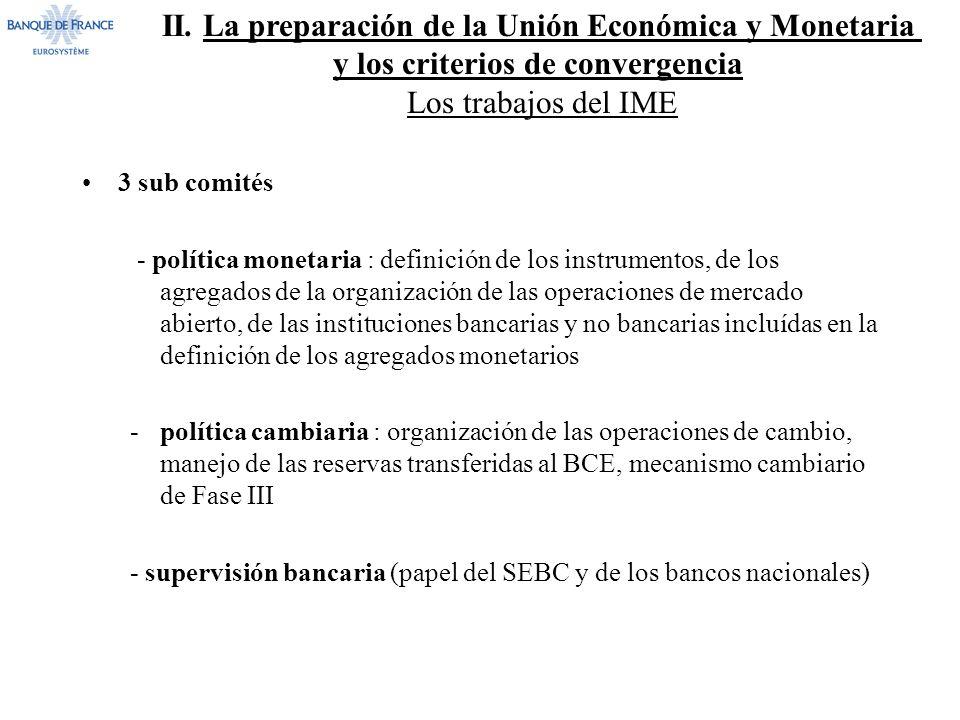 II. La preparación de la Unión Económica y Monetaria