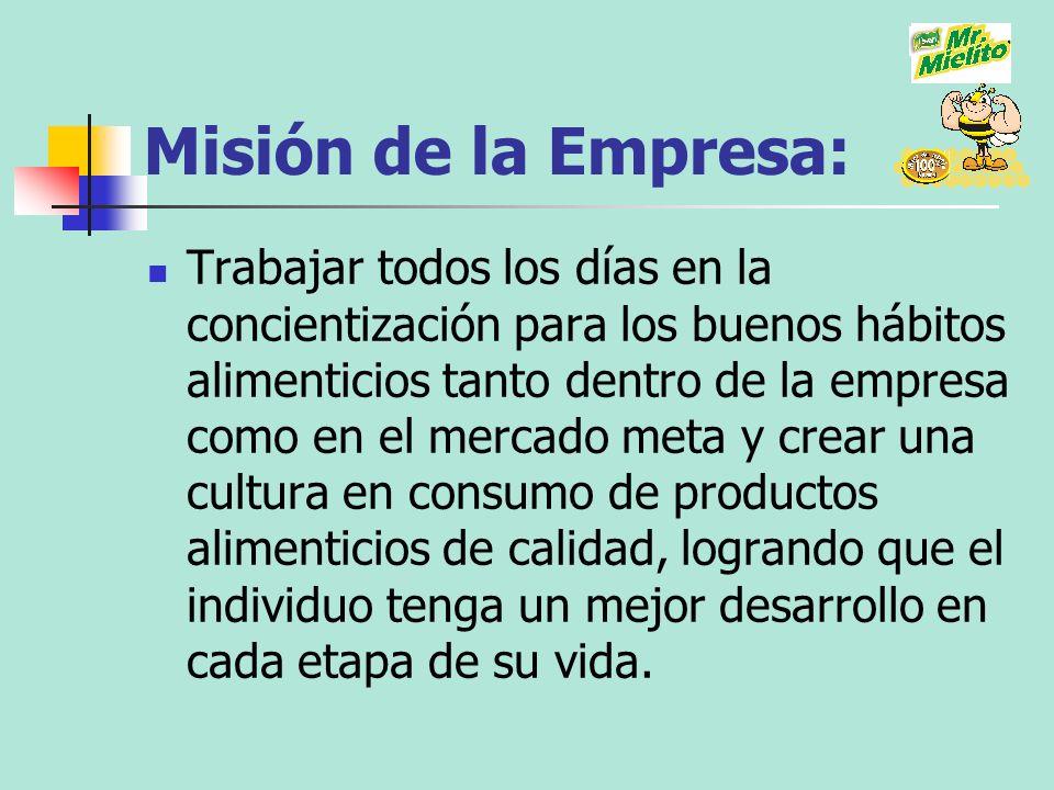 Misión de la Empresa: