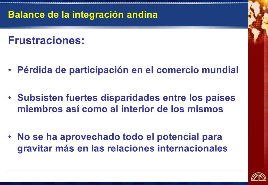 Balance de la integración andina