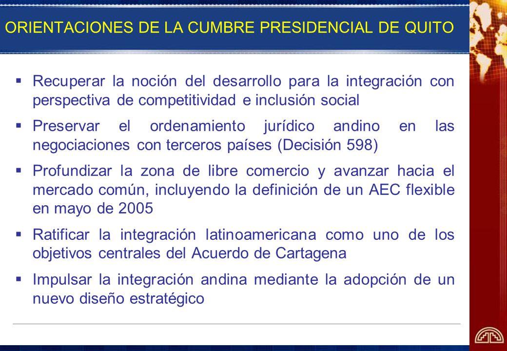 ORIENTACIONES DE LA CUMBRE PRESIDENCIAL DE QUITO