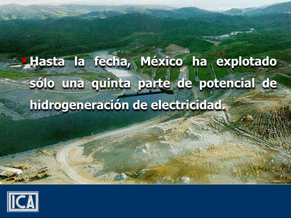 Hasta la fecha, México ha explotado sólo una quinta parte de potencial de hidrogeneración de electricidad.