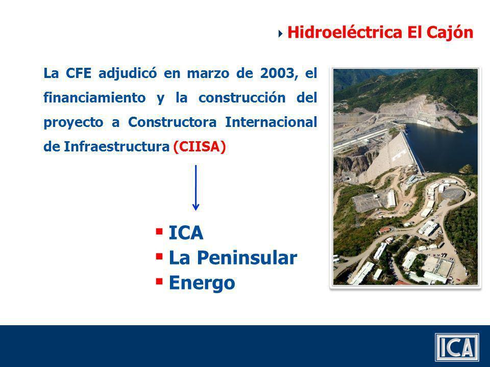 ICA La Peninsular Energo Hidroeléctrica El Cajón
