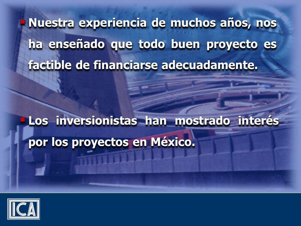 Nuestra experiencia de muchos años, nos ha enseñado que todo buen proyecto es factible de financiarse adecuadamente.