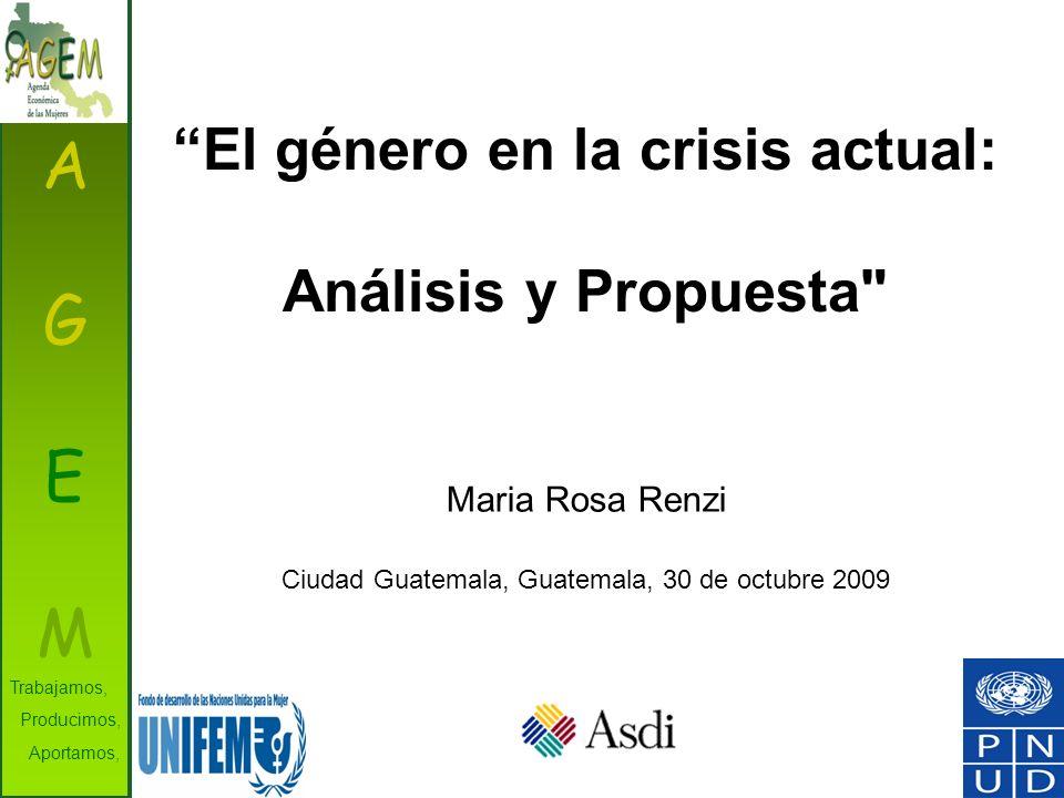El género en la crisis actual: