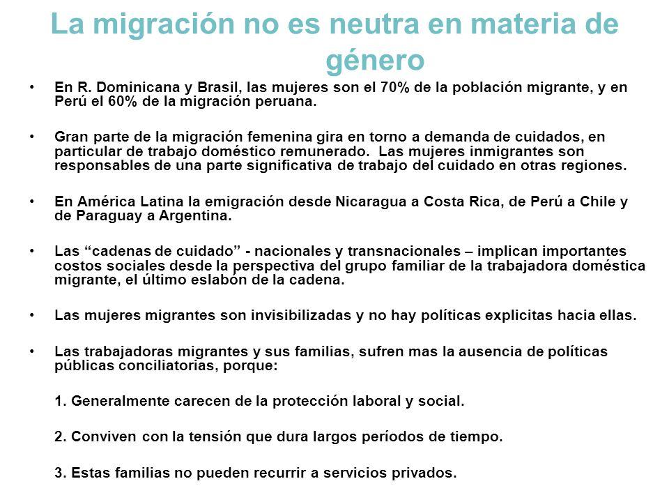 La migración no es neutra en materia de género