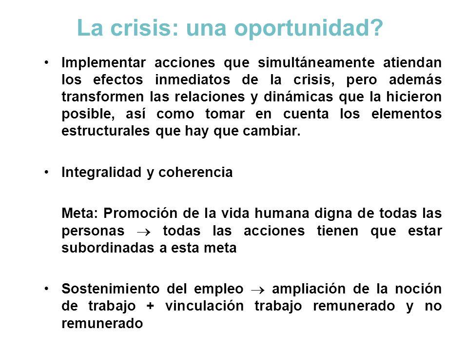 La crisis: una oportunidad