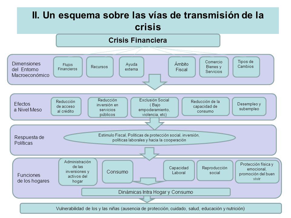 II. Un esquema sobre las vías de transmisión de la crisis