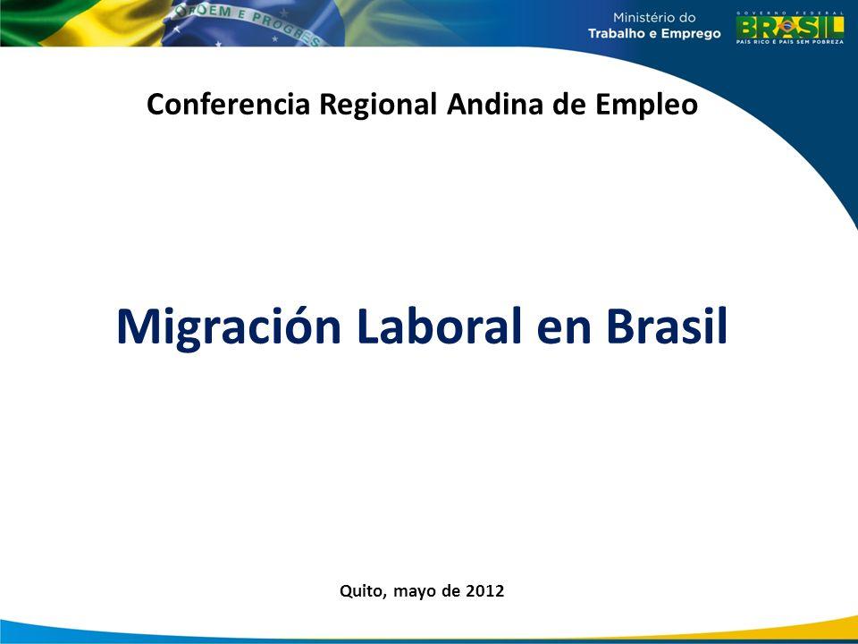 Conferencia Regional Andina de Empleo Migración Laboral en Brasil