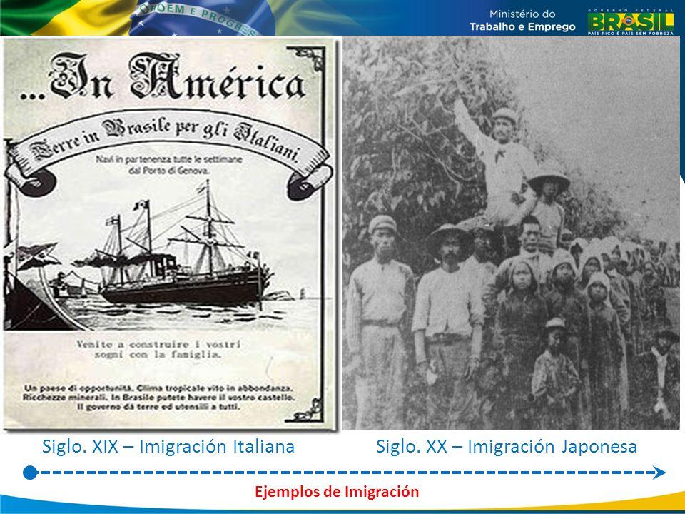 Ejemplos de Imigración