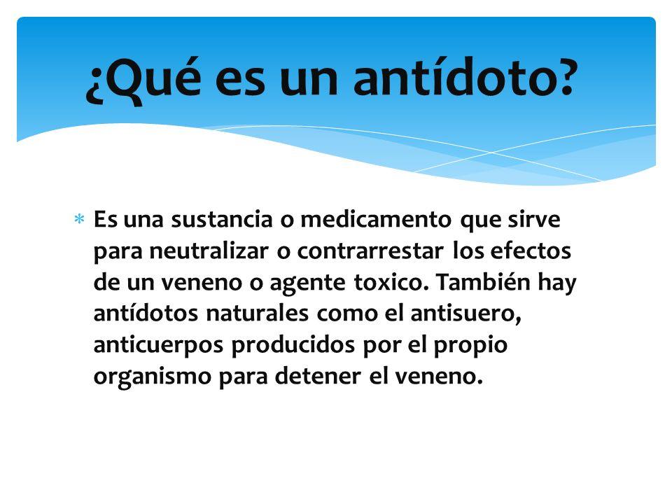 ANTIDOTOS DE LOS MEDICAMENTOS. - ppt video online descargar