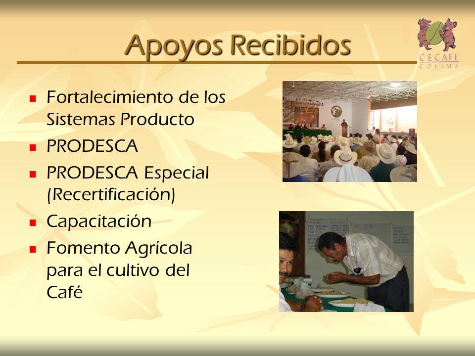 Apoyos Recibidos Fortalecimiento de los Sistemas Producto PRODESCA