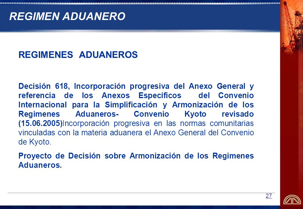 REGIMEN ADUANERO REGIMENES ADUANEROS